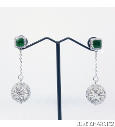 Green Fairy Cage Diffuser Earrings | Minicage