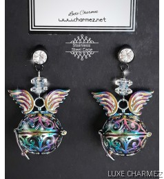 Unicorn Diffuser Earrings | Stainless Steel Cage