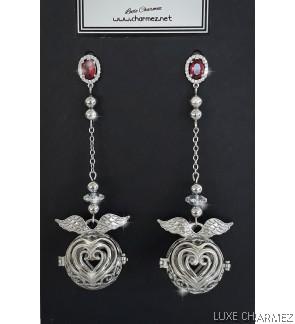 Angel of Love Diffuser Earrings | Ruby