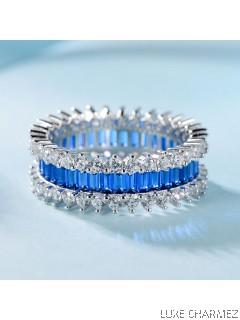 Trinity Ring | Sapphire Blue