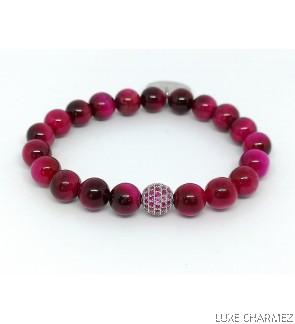 Tiger's Eye Bracelet | Sparkly Lollipop Charm