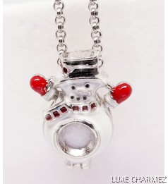 Snowman Diffuser Necklace