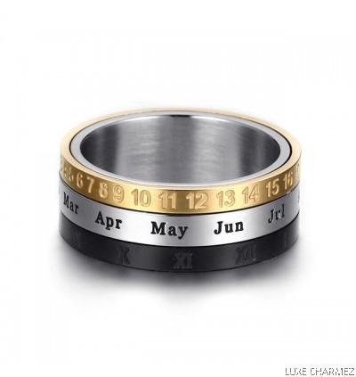 Tricolor Calendar Ring  ( Pre-Order )