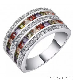 Duo Rainbow Ring | S925 Sterling Silver (Pre-Order)