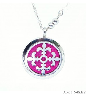 Hestia Celtic Diffuser Necklace   Stainless Steel Cage