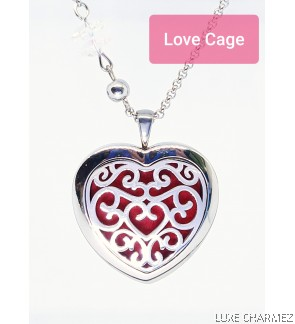 Hestia Love Diffuser Necklace   Stainless Steel Cage